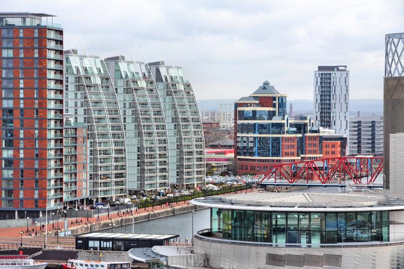 Salford Quays, Manchester royalty free stock image