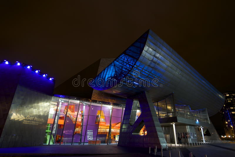 Salford Quays Theatre, Machester obrazy royalty free