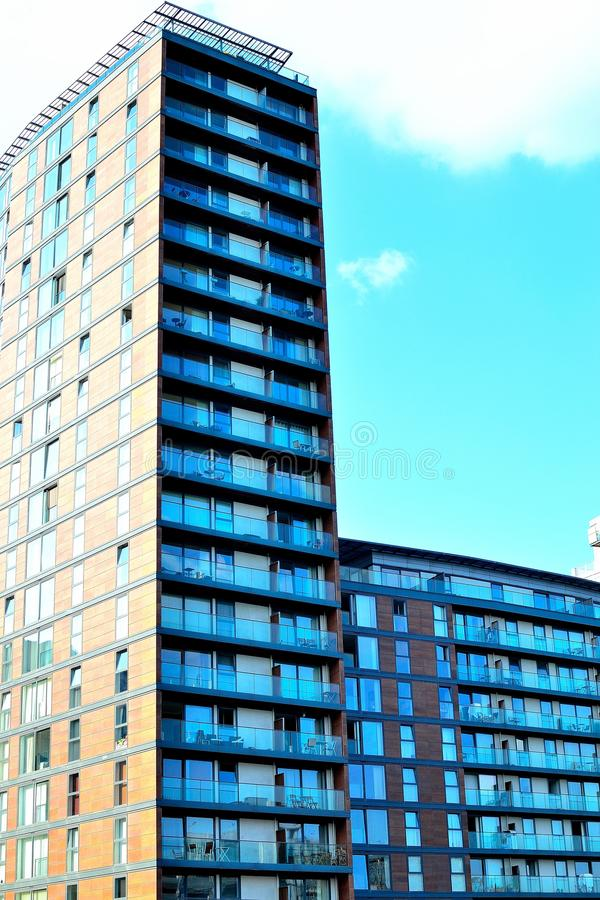 Salfordkaden, Manchester, het UK stock foto