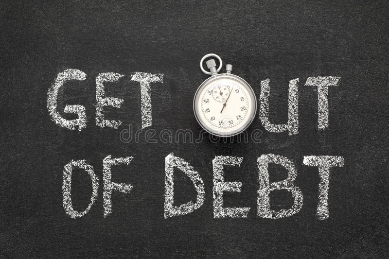 Salga de deuda fotografía de archivo