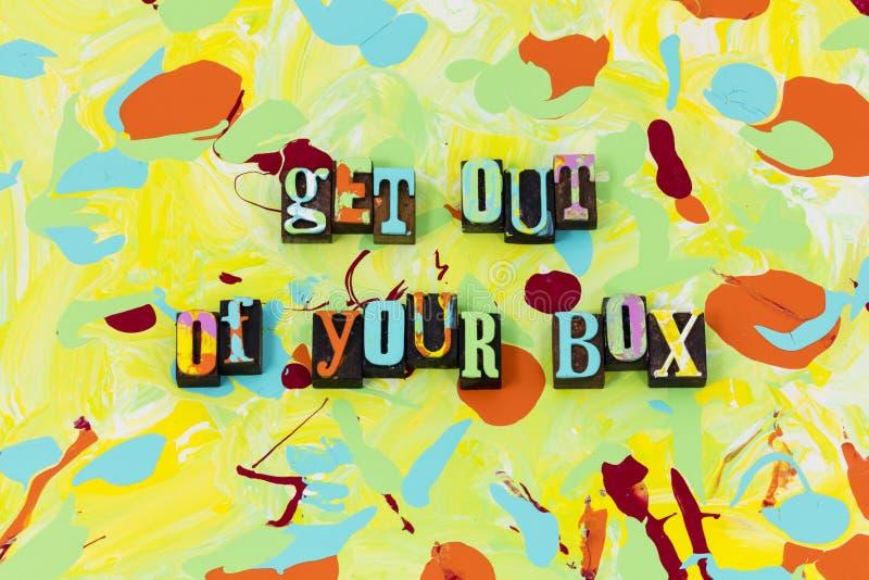 Salga de su zona de comodidad de la caja se inspire ilustración del vector