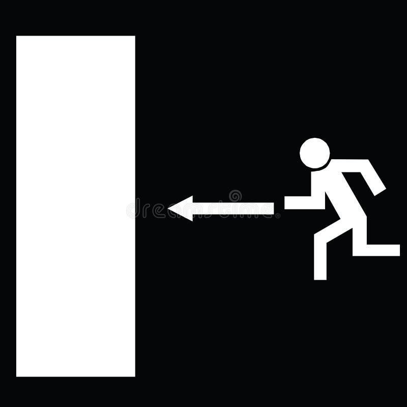 Salga el ejemplo de la silueta del vector del icono stock de ilustración