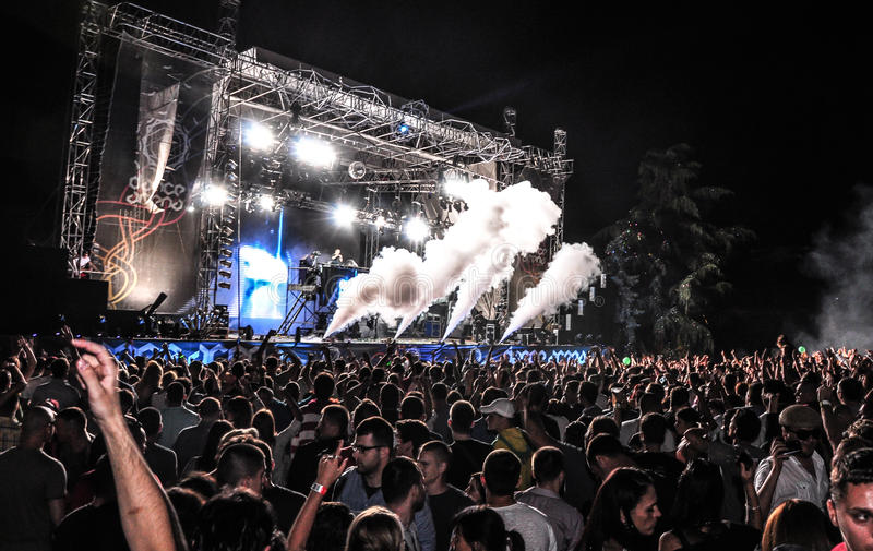 SALGA el festival de música 2013 foto de archivo