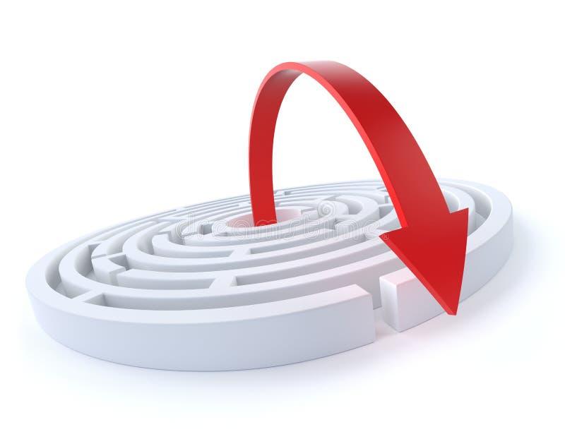 Salga la estrategia ilustración del vector