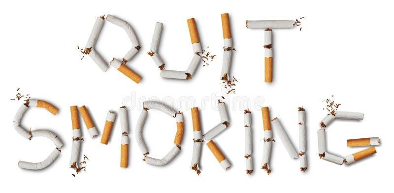 Salga la imagen antifumador rendida Smoking foto de archivo libre de regalías
