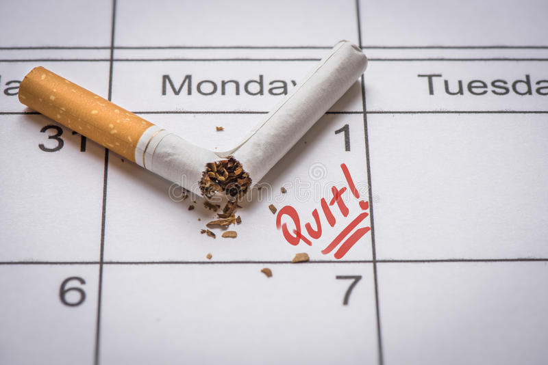 Salga la imagen antifumador rendida Smoking imagen de archivo libre de regalías