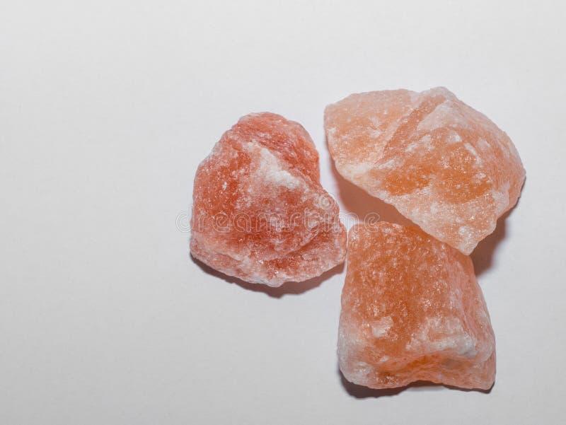 Salgemma rosa himalayano Ingrediente di alimento sano in pieno del minera fotografia stock libera da diritti