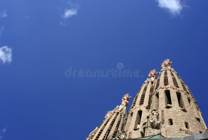Salgrada Famiglia. The Salgrada Famiglia, Barcelona, Spain royalty free stock images