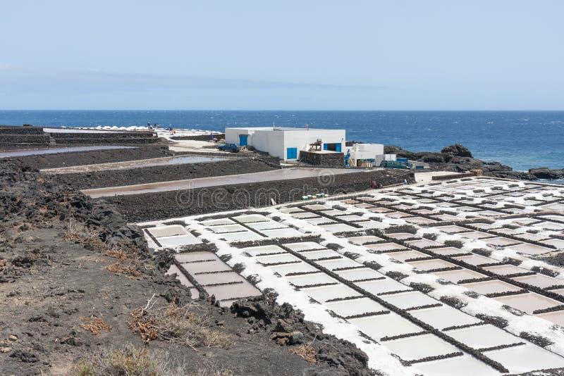 Salgue bandejas de Fuencaliente no La Palma, Ilhas Canárias foto de stock royalty free