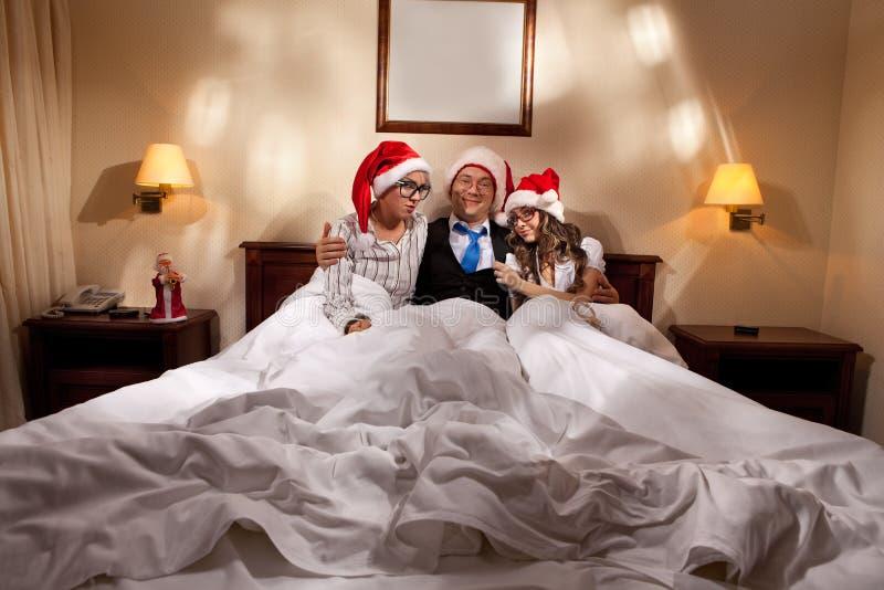 Saliência com os secretaris na noite de ano novo fotografia de stock