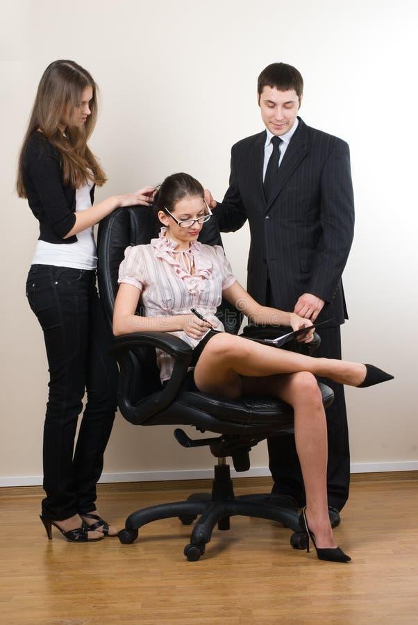 Saliência e empregados foto de stock