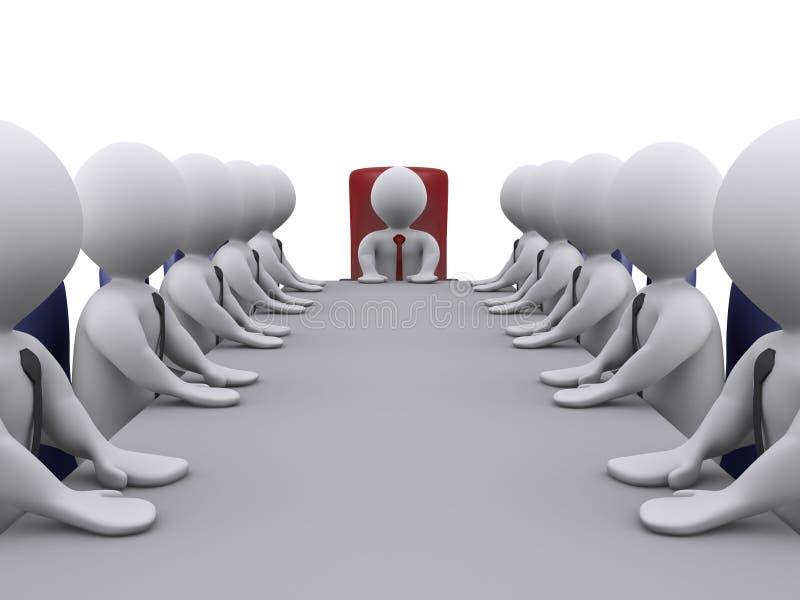Saliência e empregados em uma reunião ilustração do vetor
