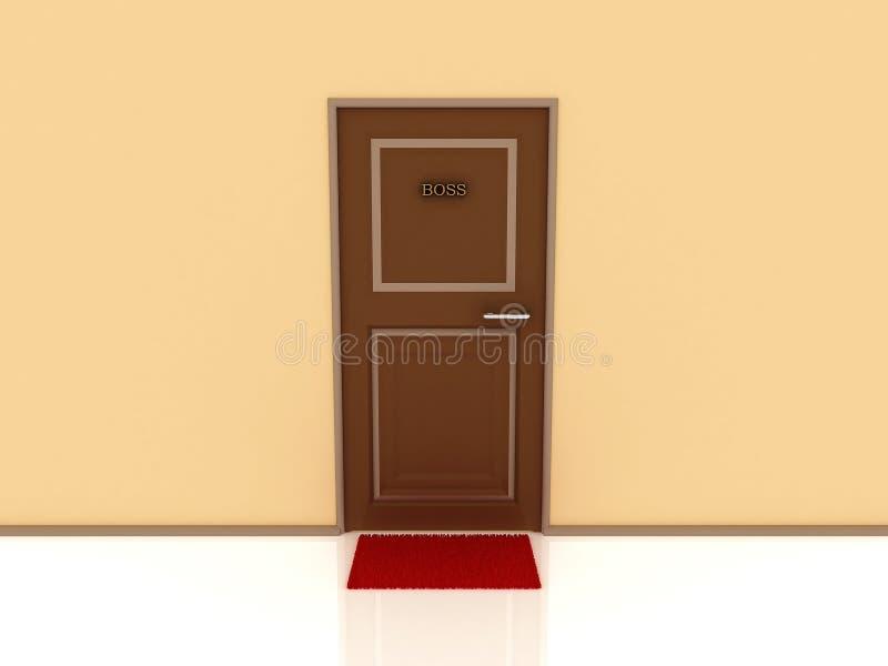 Saliência e tapete marcados da porta. 3D ilustração do vetor