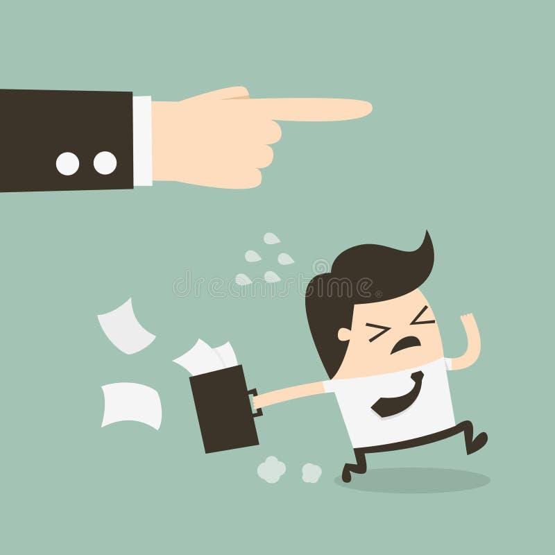 Saliência que demite um empregado ilustração stock