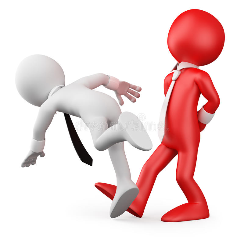 Saliência que faz o desengate acima de um empregado ilustração do vetor