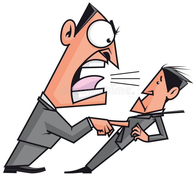 Saliência que grita seu empregado ilustração stock