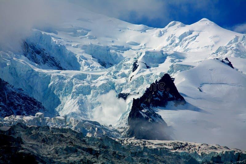 Saliências do DES da geleira imagem de stock