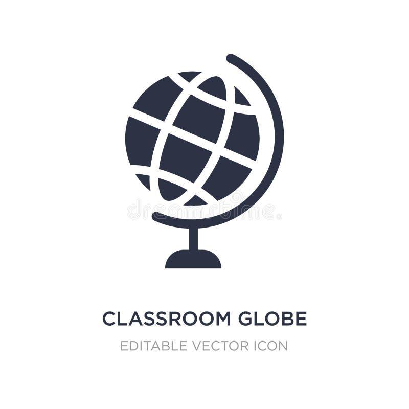sali lekcyjnej kuli ziemskiej ikona na białym tle Prosta element ilustracja od edukacji pojęcia royalty ilustracja