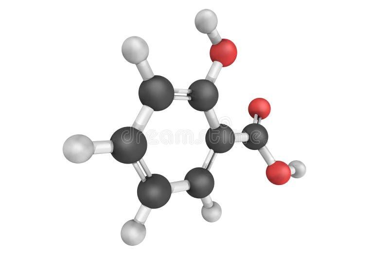 Salicylic zuur, de belangrijkste medicijnen nodig in basis royalty-vrije stock fotografie