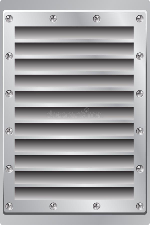 Salida de aire del fondo del metal stock de ilustración