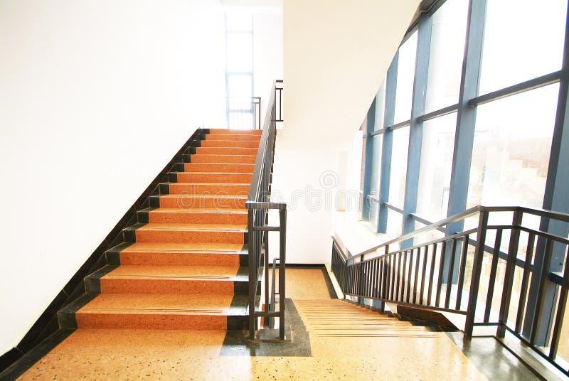 Salida de la escalera fotografía de archivo