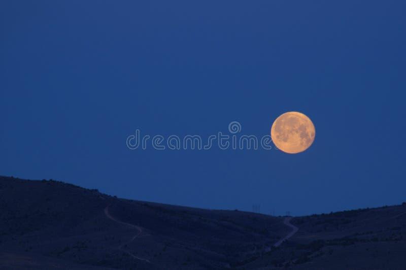 Salida de la luna imagen de archivo libre de regalías
