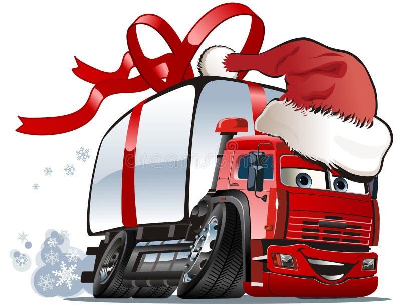 Salida de la Navidad del vector/carro del cargo ilustración del vector