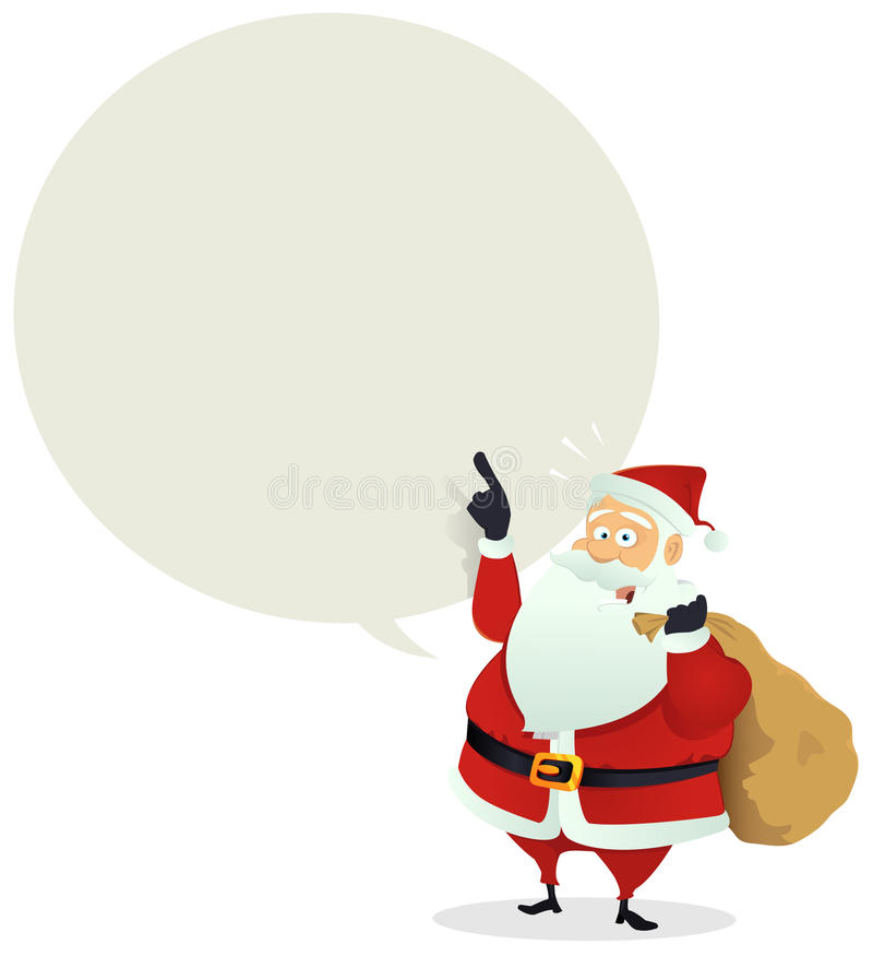 Salida de Santa - mensaje de la burbuja del discurso stock de ilustración