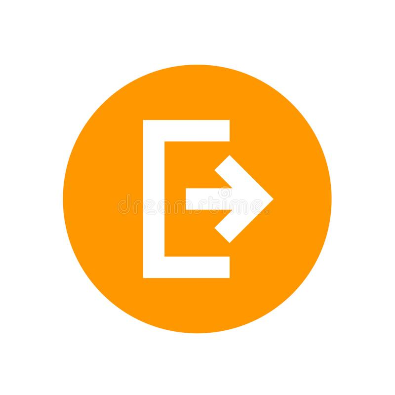 Salida del sistema, icono de la salida, símbolo stock de ilustración