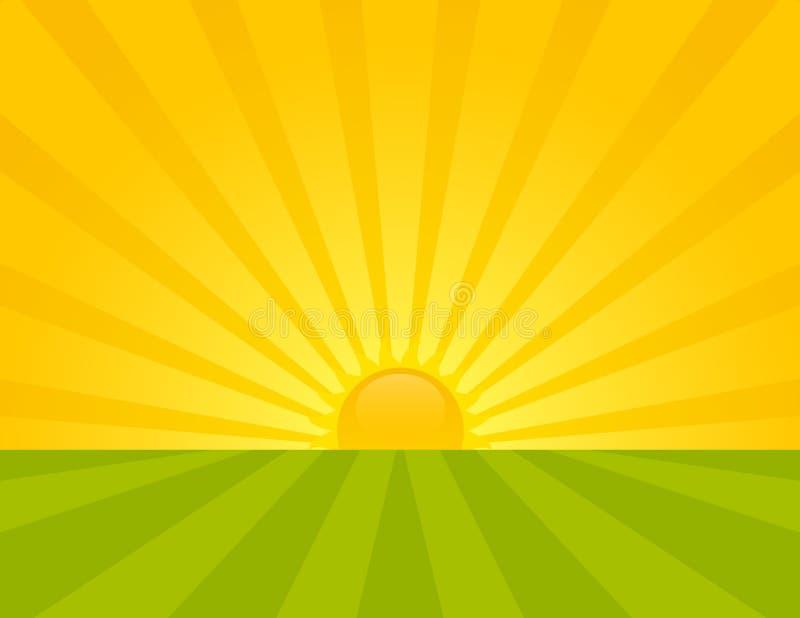 Salida del sol. ilustración del vector