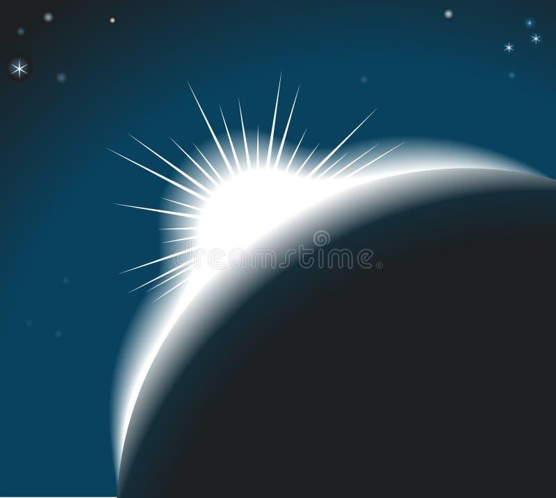 Salida del sol stock de ilustración