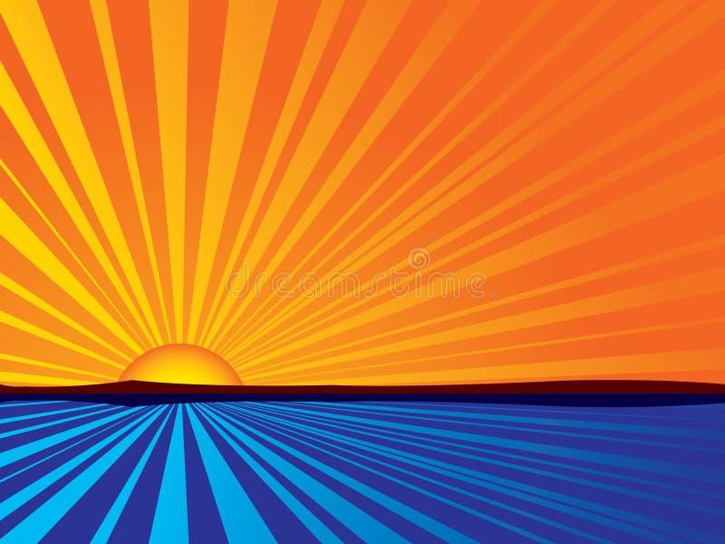 Salida del sol abstracta ilustración del vector