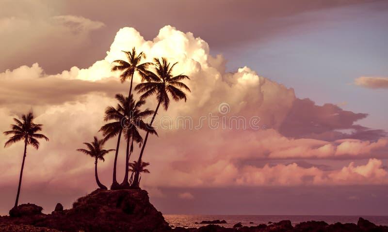 Salida del sol asombrosa - Costa Rica foto de archivo