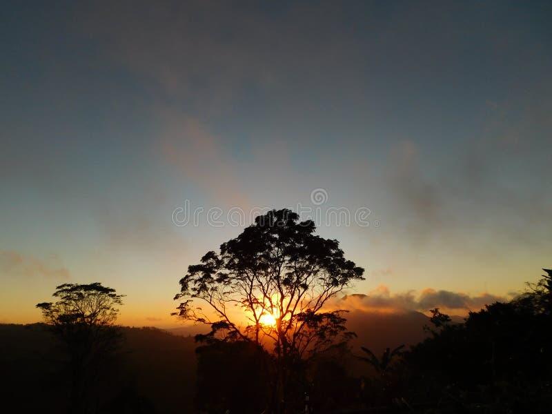 Salida del sol Bali fotos de archivo