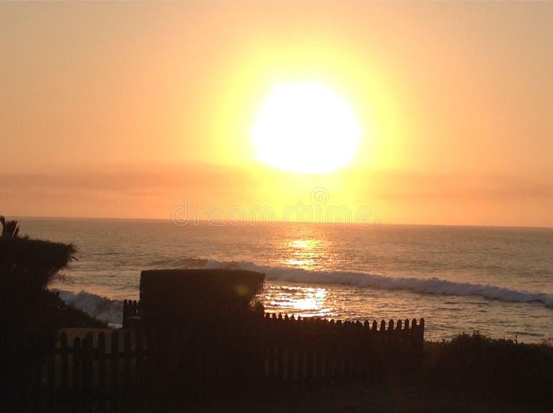 Salida del sol Ballito foto de archivo