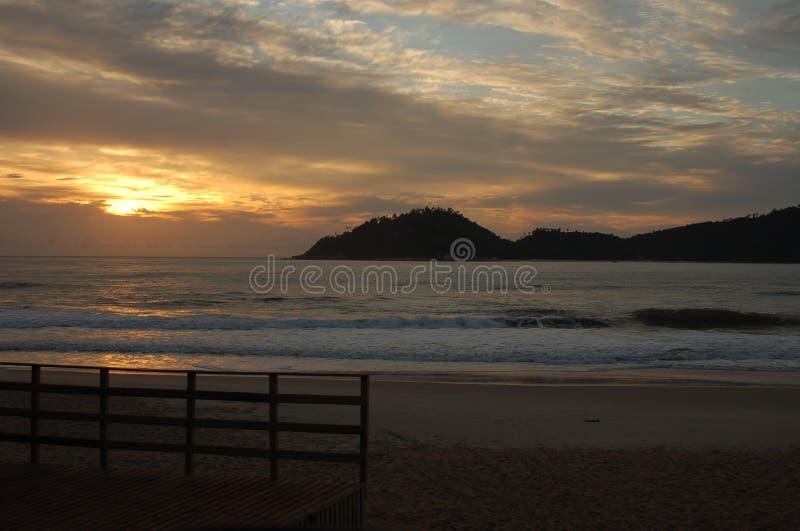 Salida del sol brasileña fotografía de archivo