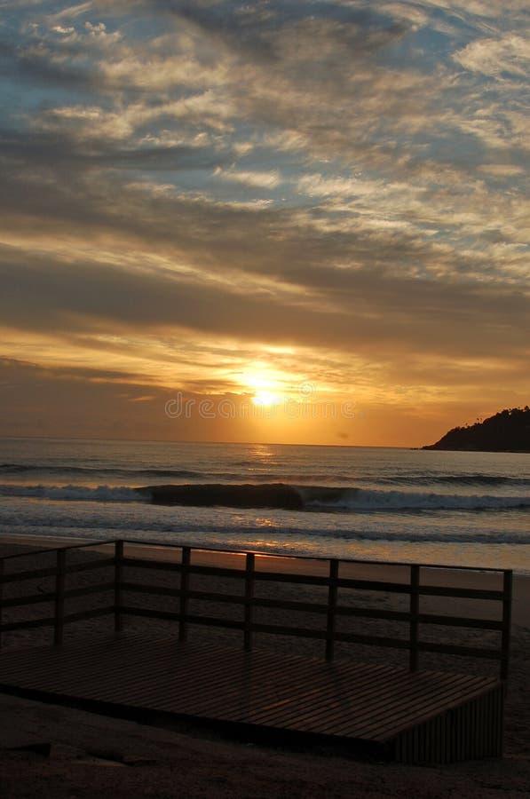 Salida del sol brasileña foto de archivo libre de regalías