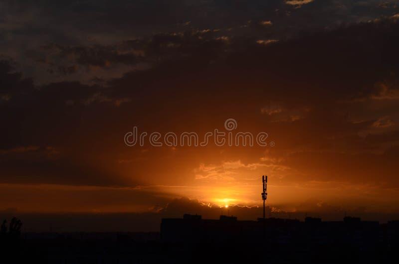 Salida del sol Cielo fotografía de archivo libre de regalías