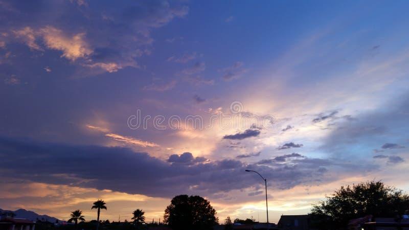 Salida del sol de Arizona imagen de archivo libre de regalías