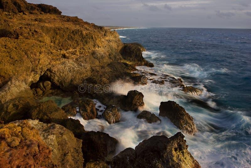 Salida del sol de Aruba imagen de archivo libre de regalías