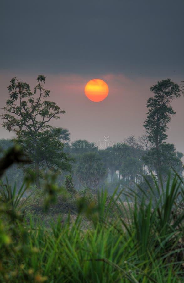 Salida del sol de Beng Melea fotos de archivo libres de regalías