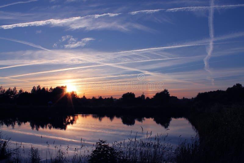 Salida del sol de Bielorrusia imagen de archivo libre de regalías
