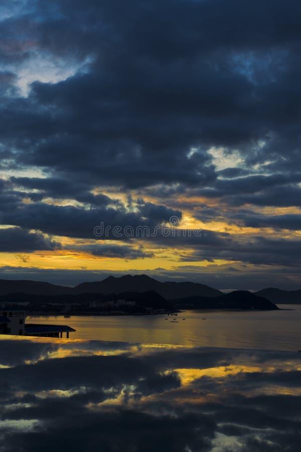 Salida del sol de Hainan Sanya fotos de archivo