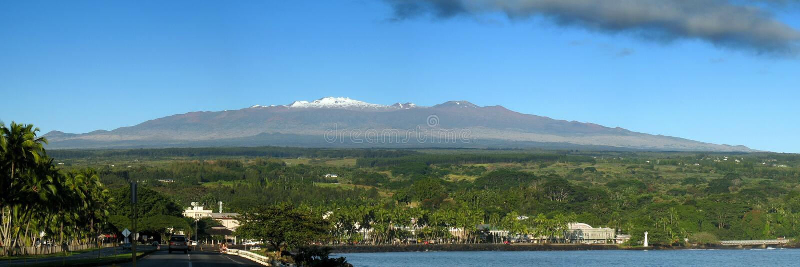 Salida del sol de Hilo Mauna Kea foto de archivo