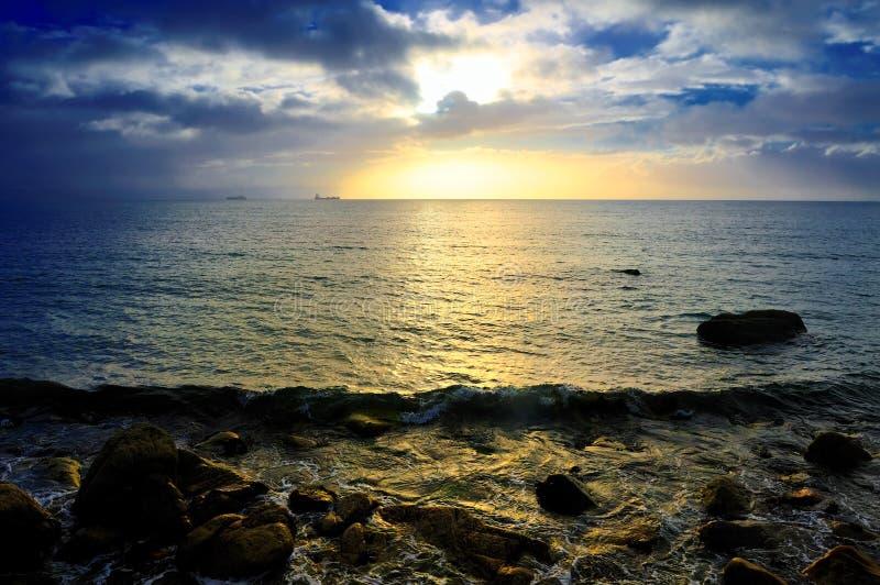 Salida del sol de la bahía de Dublín foto de archivo libre de regalías