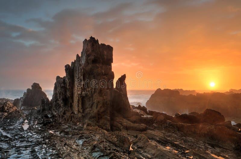 Salida del sol de la costa sur de Bermagui fotos de archivo libres de regalías