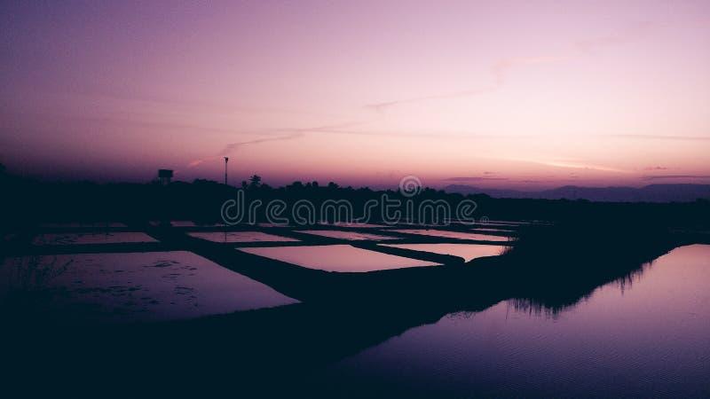 Salida del sol de la madrugada foto de archivo