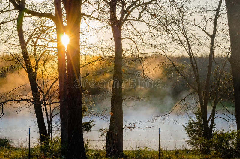 Salida del sol de la primavera de Missouri imágenes de archivo libres de regalías