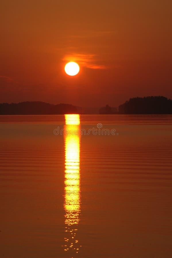 Salida del sol de Lanier fotografía de archivo libre de regalías