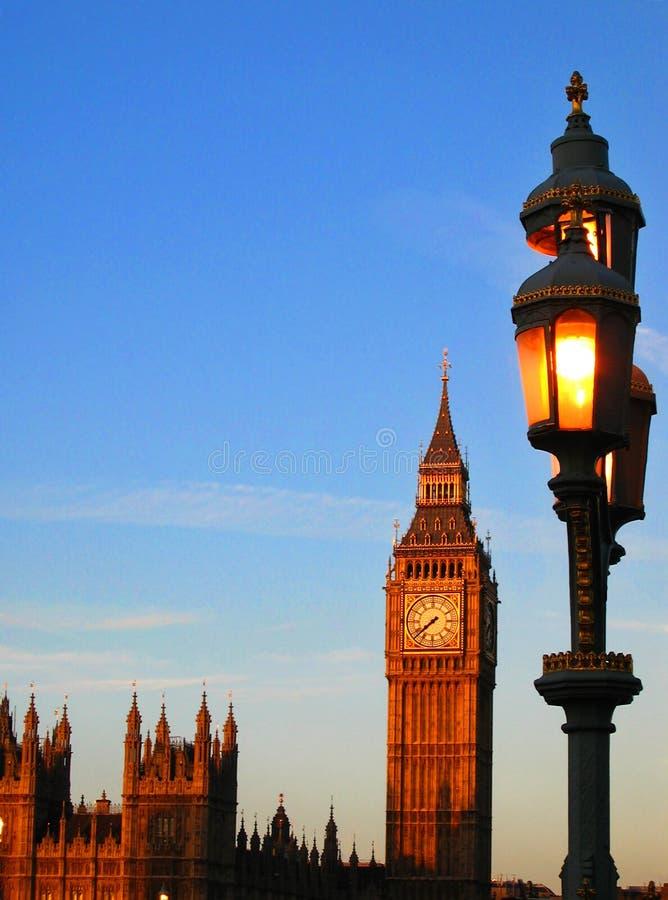 Salida del sol de Londres foto de archivo